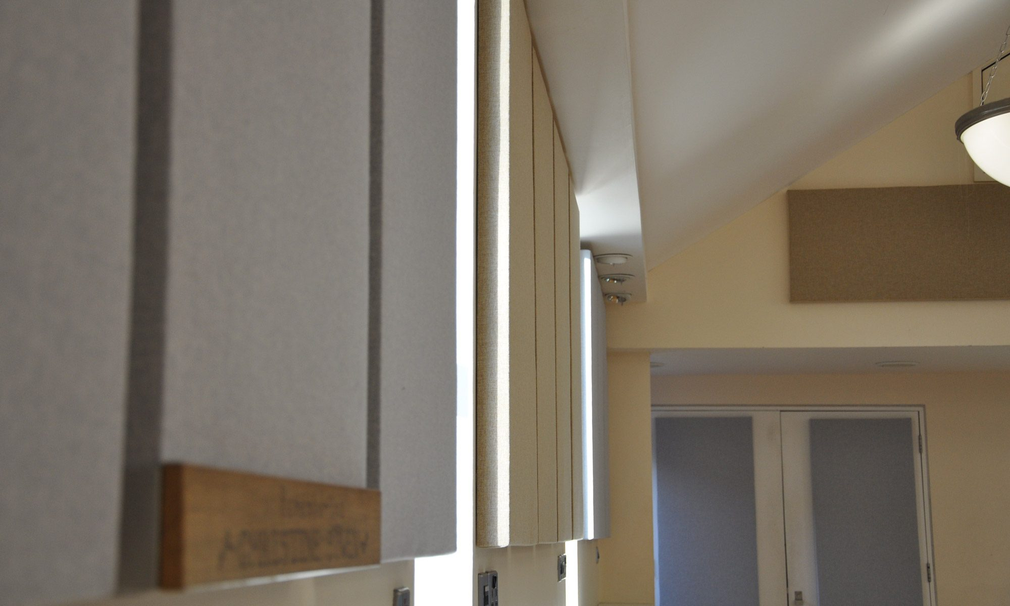 Acoustic panels installed at Ashford Hall to control sound reverberation