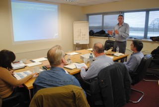 Tim at a recent training day in Dublin for members of the of Acoustic Consultants of Ireland (AACI). The training was on the practical application of ProPG: Planing and Noise